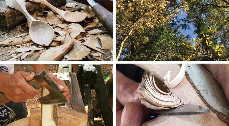 グリーンウッドワークで匙る一日 ~森との対話から始めるスプーン作り~